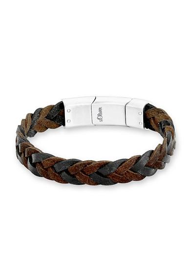 Flecht-Armband aus Leder
