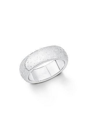 Srebrn prstan z diamantnim prahom