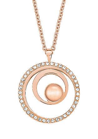 Rosé verižica s kristali Swarovski