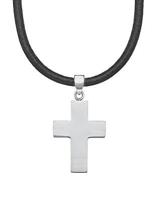 Ketting met een kruisje van edelstaal