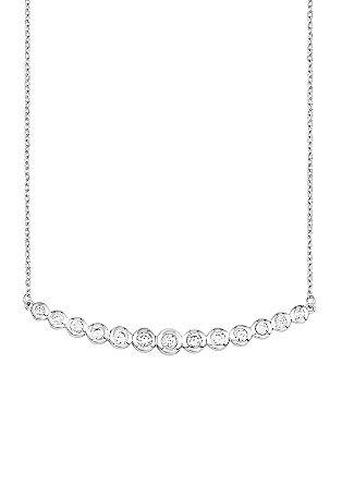 Ženska ogrlica; srebro 925; cirkoni