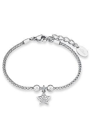 Edelstahl-Armband mit Zirkonias