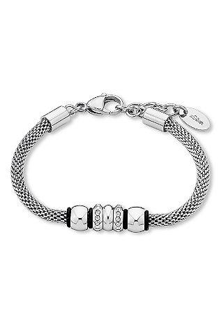 Edelstahl-Armband im Materialmix