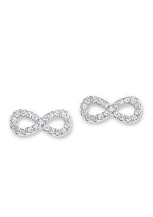 Infinity-Ohrstecker aus Silber