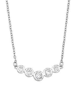 Srebrna ogrlica s cirkoni