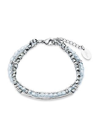 "Armkette ""Silver loves Grey"""