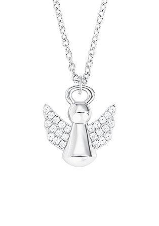 Srebrna ogrlica z obeskom angelčka