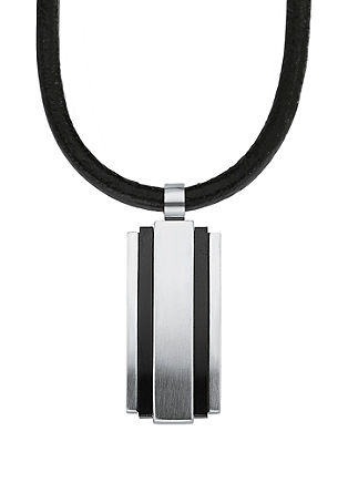 Heren ketting edelstaal IP black