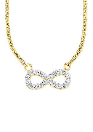 Pozlačena ogrlica s simbolom neskončnosti