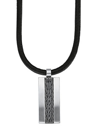 Heren ketting edelstaal IP grey
