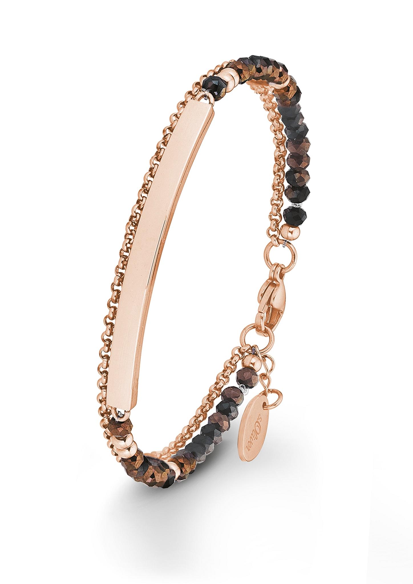 Armband   Schmuck > Armbänder > Sonstige Armbänder   Pink   Edelstahl  glasbeads   s.Oliver