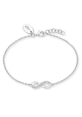 Infinity-Armband aus Silber