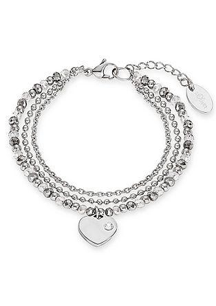 Zapestnica z obeskom v obliki srca in steklenimi okrasnimi kamenčki