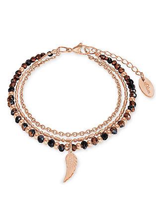 Armband mit Flügel und Glasbeads