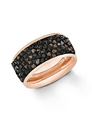 Ring mit Swarovski-Kristallen