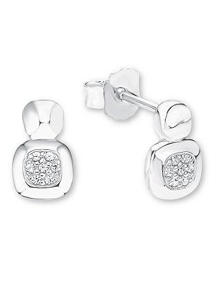 Ženski uhani; srebro 925; cirkoni