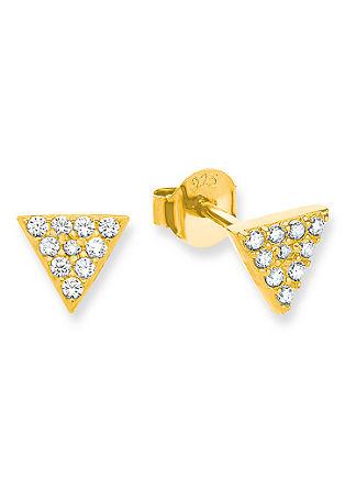 Damen Ohrstecker 925 Silber vergoldet