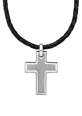 Ogrlica s križem iz legiranega jekla