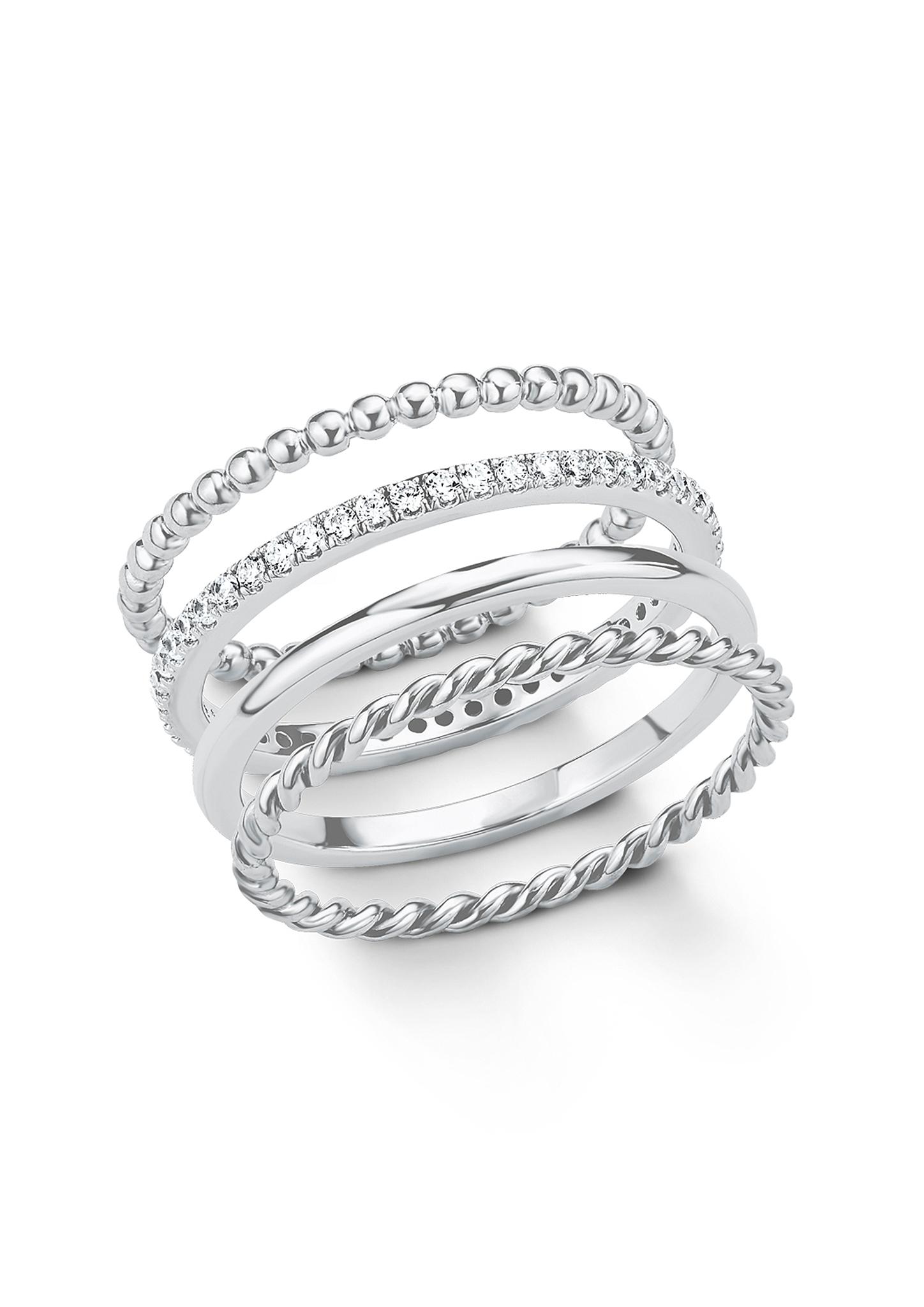 Fingerring | Schmuck > Ringe > Fingerringe | Weiß | 925er sterling silber -  rhodiniert| zirkonia (synthetisch) | s.Oliver