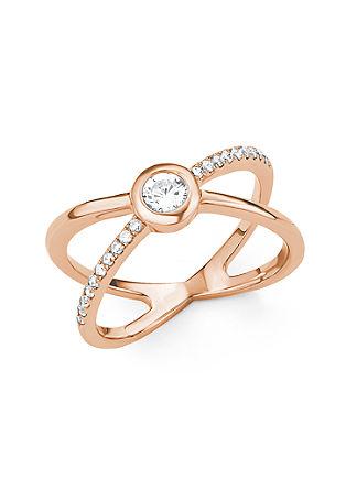 X-Ring mit Zirkonia
