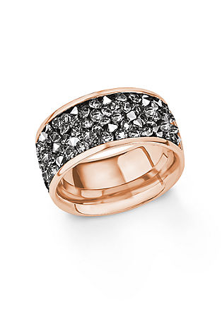 Ring mit Swarovski in IP Rosé