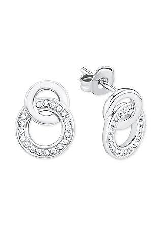 Zilveren oorstekers met zirkonia