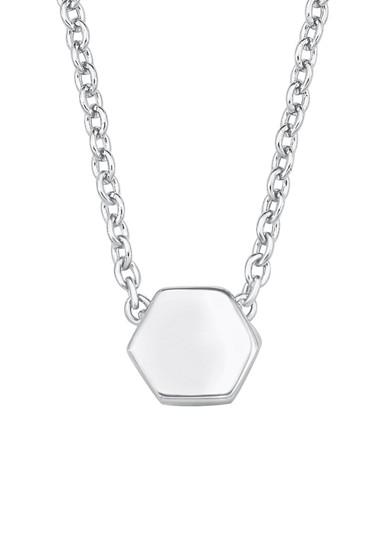 Silberne Halskette Hexagon