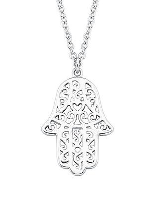 Silber-Kette mit 'Hamsa'-Hand