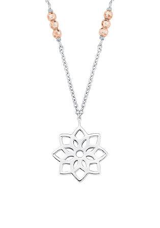 Dvobarvna ogrlica cvetlica