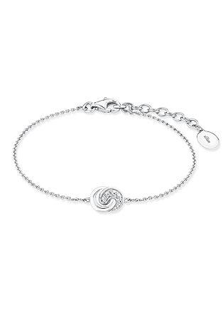 Silbernes Armband 'Knoten' mit Zirkonia