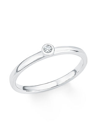 Silberner Ring mit Zirkonia