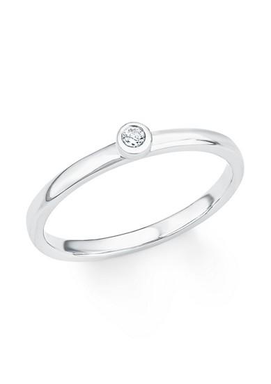 Zilveren ring met zirkonen