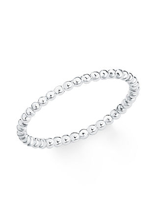 Silberner Ring Kügelchen