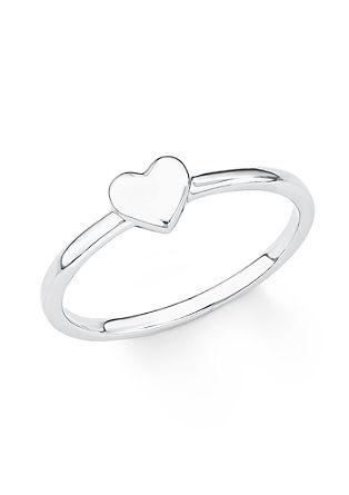 Srebrn prstan srce
