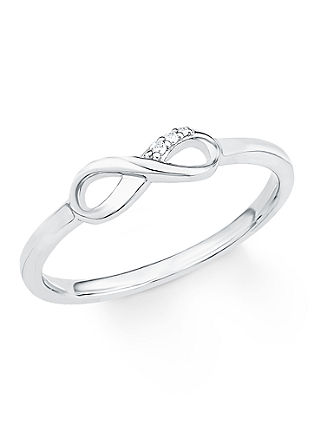 Silberner Ring 'Infinity' mit Zirkonia