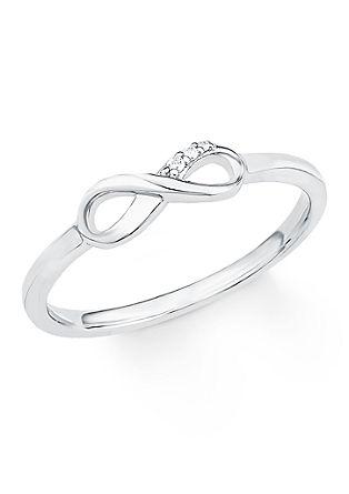 Silberner Ring Infinity mit Zirkonia