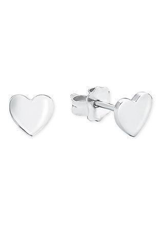Zilveren oorsteker hart