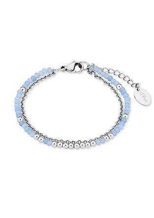 Edelstahl-Armband Glassteinen