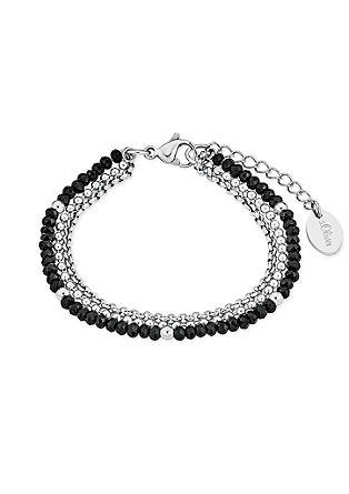 Edelstahl-Armband mit Glasperlen