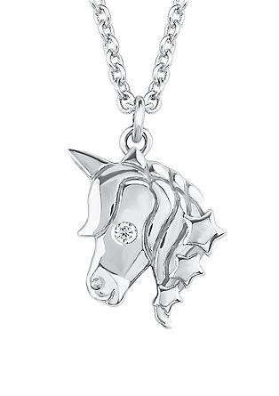 Silberkette mit Einhorn-Anhänger