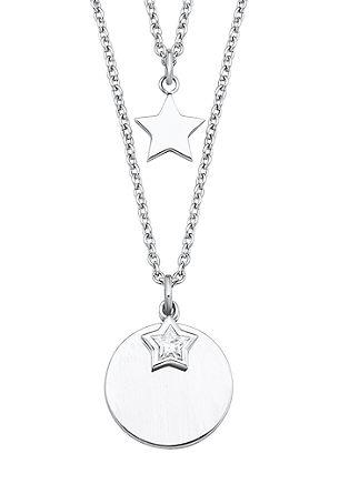 Doppel-Halskette Stern mit Zirkonia