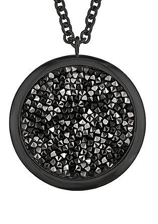 Schwarze Kette mit Swarovski Kristallen
