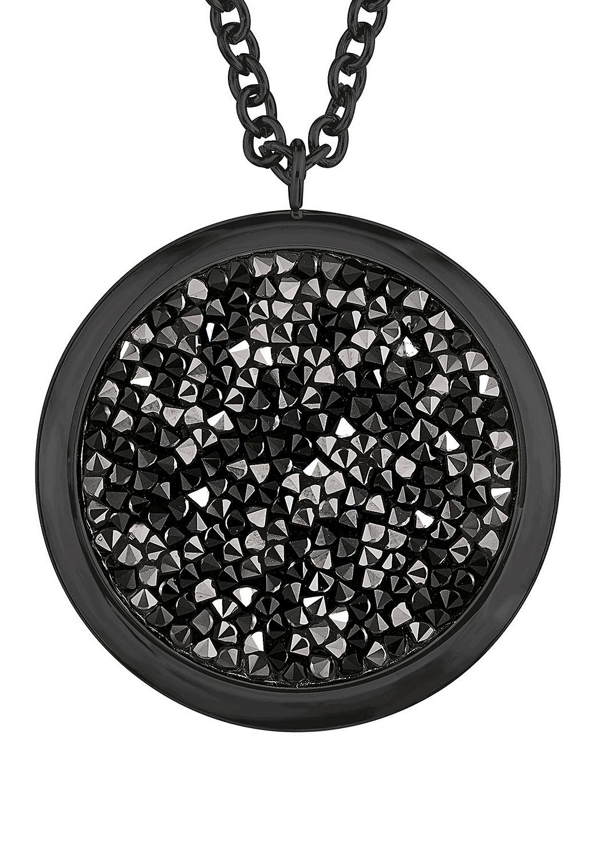 schwarze kette mit swarovski kristallen kaufen s oliver. Black Bedroom Furniture Sets. Home Design Ideas