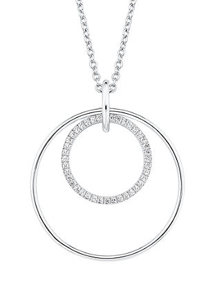 Zilveren ketting met cirkels en zirkonia