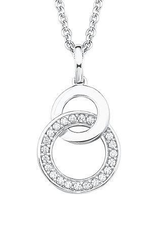 Silberkette Kreise mit Zirkonia