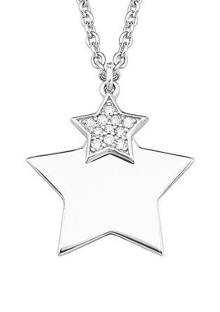 Zilveren ketting met ster en zirkonia