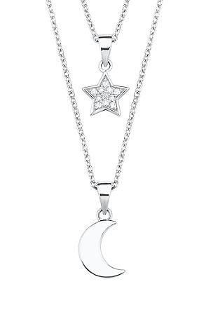 Silberkette Mond und Stern