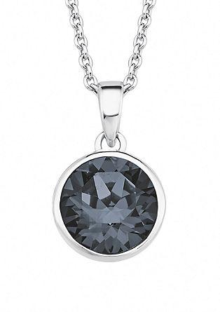 Silberkette mit Swarovski-Kristall