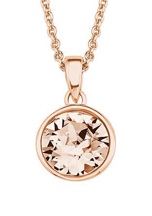 Roséfarbene Kette mit Swarovski® Kristall
