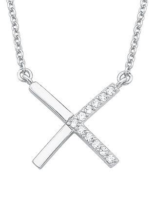 Silberkette mit X-Anhänger
